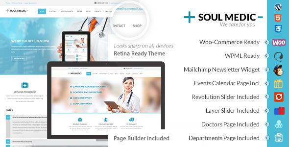 medical wp updated.  large preview - SoulMedic | Hospital & Doctor WordPress Theme