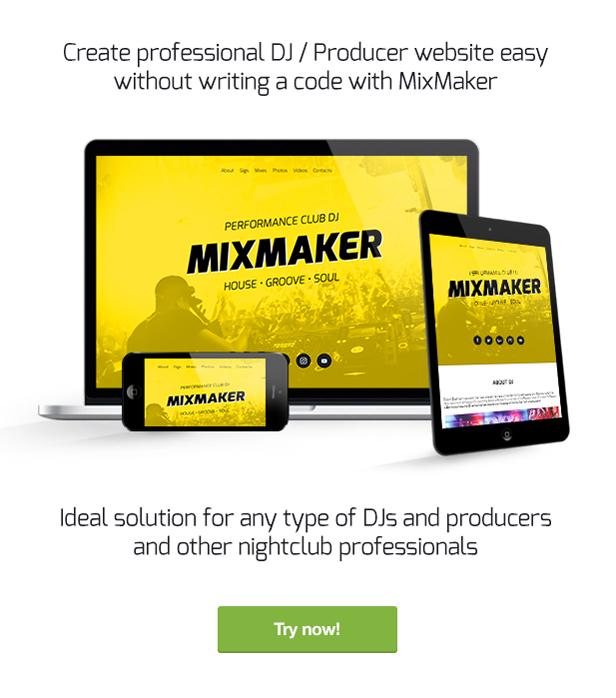 mixmaker responsive muse template description - MixMaker - DJ / Producer / Music Band Website Responsive Muse Template