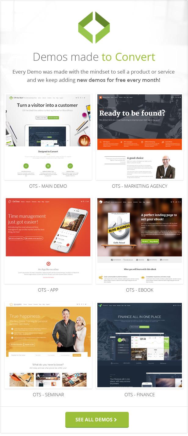 ots demos - Off the Shelf - Online Marketing WordPress Theme