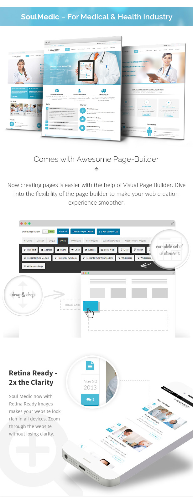 page builder - SoulMedic   Hospital & Doctor WordPress Theme