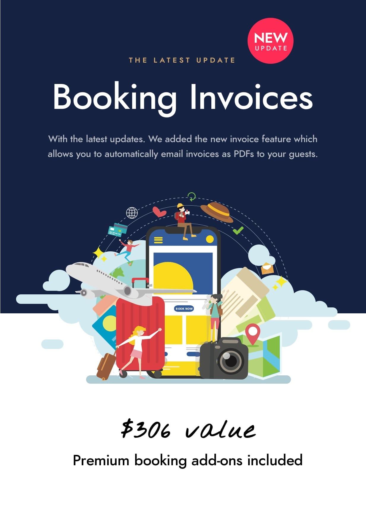 pdf invoices - Hotel Booking WordPress