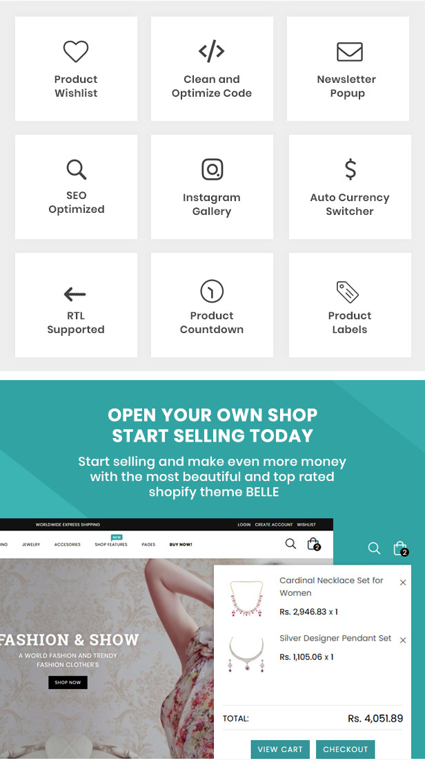 preview 10 - Belle - Clothing and Fashion Shopify Theme