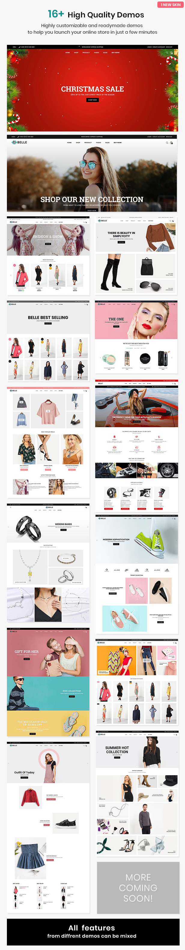 preview 2 - Belle - Clothing and Fashion Shopify Theme