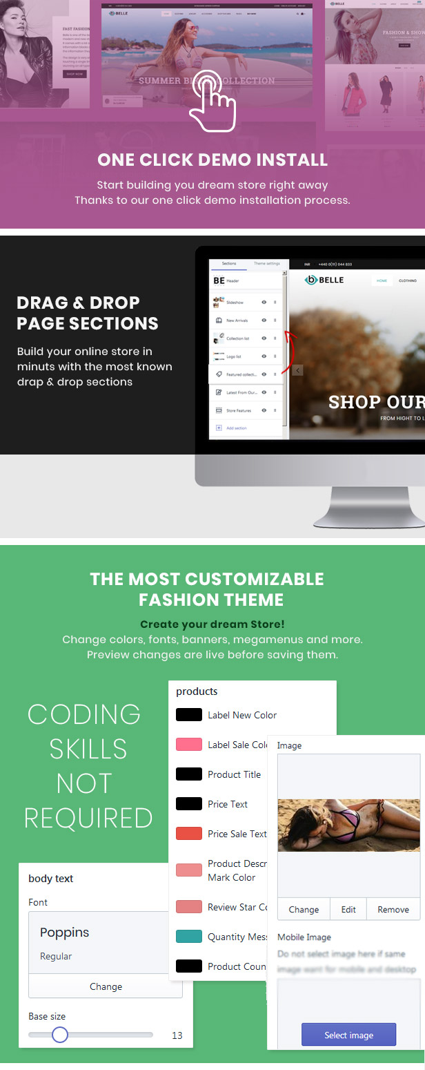 preview 3 - Belle - Clothing and Fashion Shopify Theme