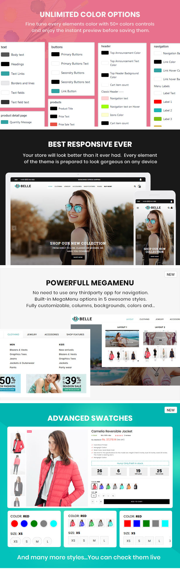 preview 5 - Belle - Clothing and Fashion Shopify Theme
