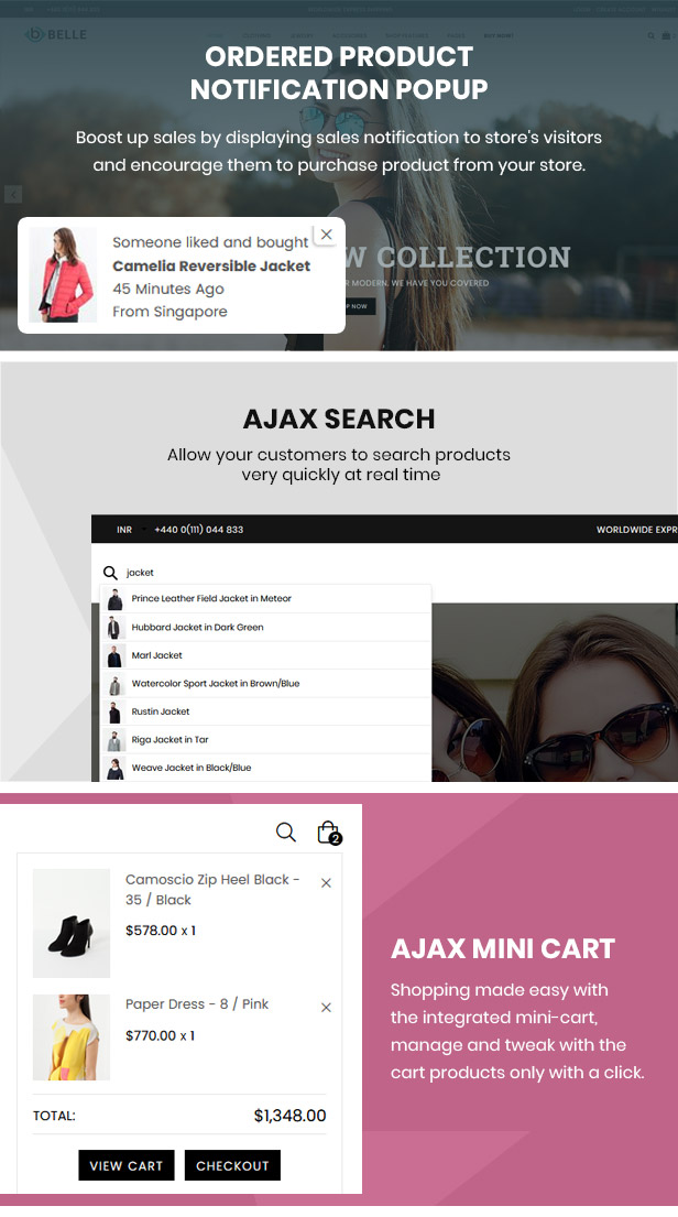 preview 7 - Belle - Clothing and Fashion Shopify Theme