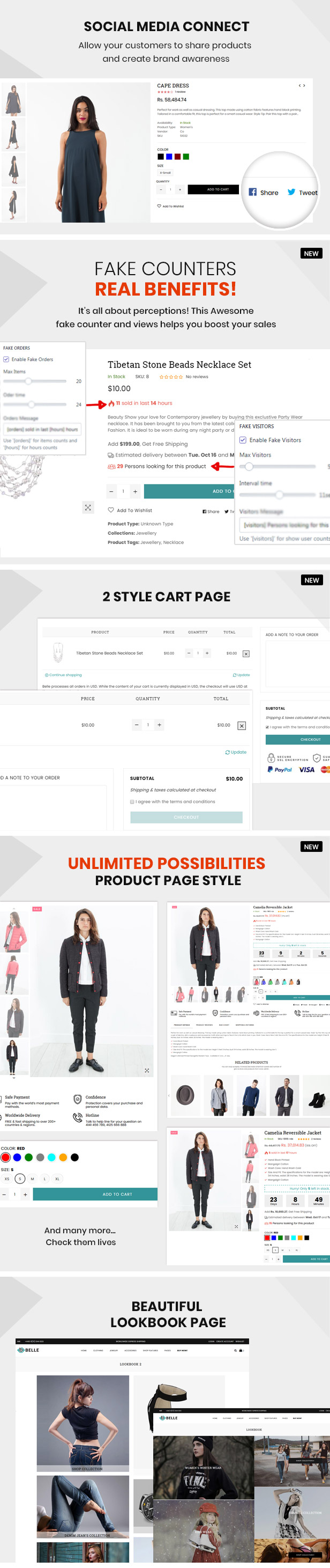 preview 9 - Belle - Clothing and Fashion Shopify Theme
