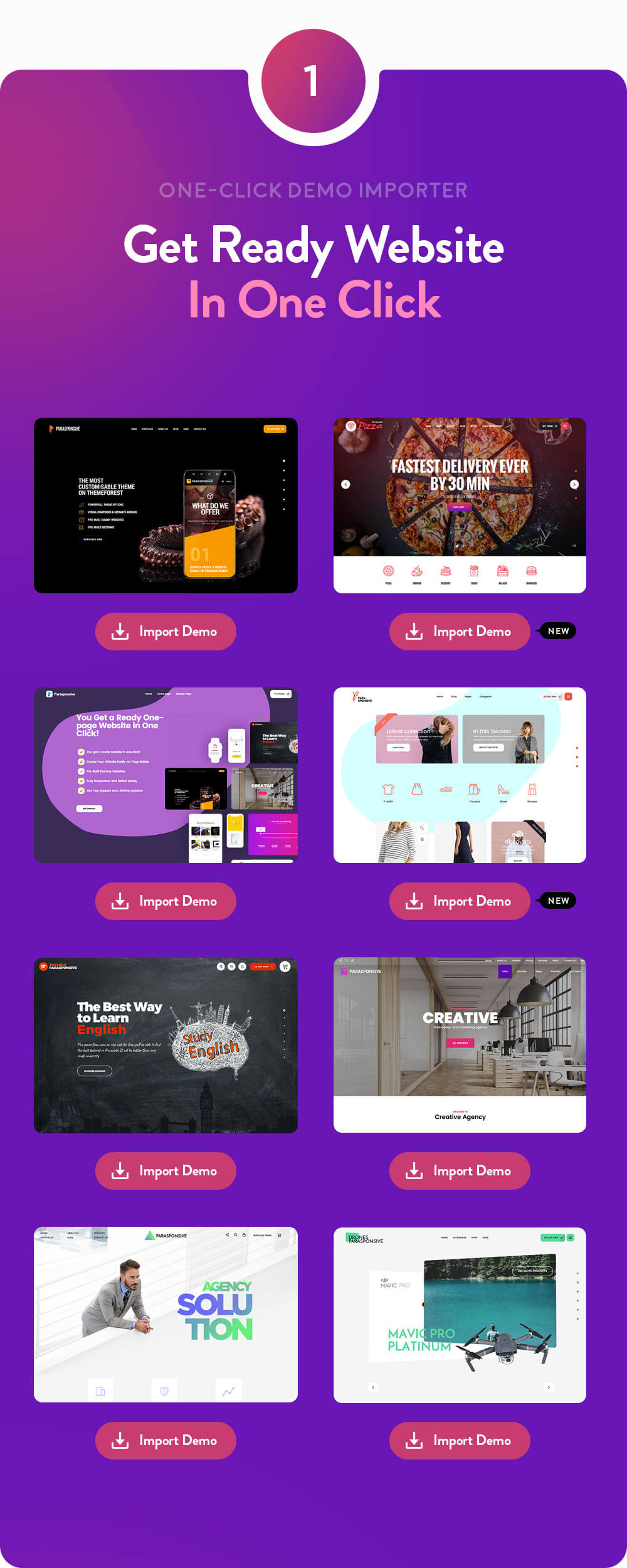 preview forest new 2 - Parasponsive - One-page Landing WooCommerce Theme