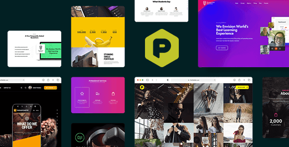 preview 01.  large preview - Parasponsive - One-page Landing WooCommerce Theme