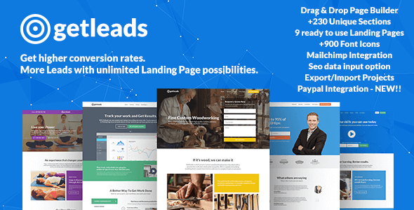 preview large.  large preview.  large preview - Getleads - Landing Pages Pack with Page Builder