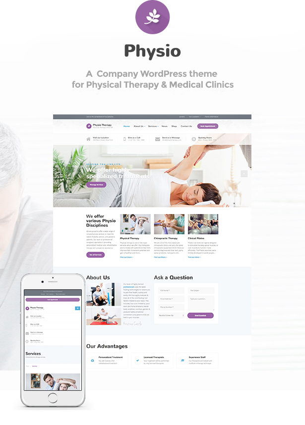 preview physio - Physio - Physical Therapy & Medical Clinic WP Theme