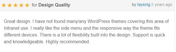 review 1 - Alliance   Intranet & Extranet WordPress Theme