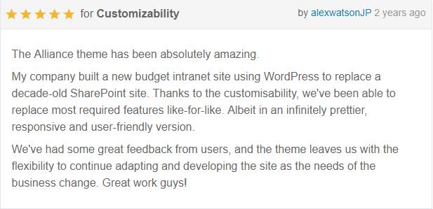 review 4 - Alliance   Intranet & Extranet WordPress Theme