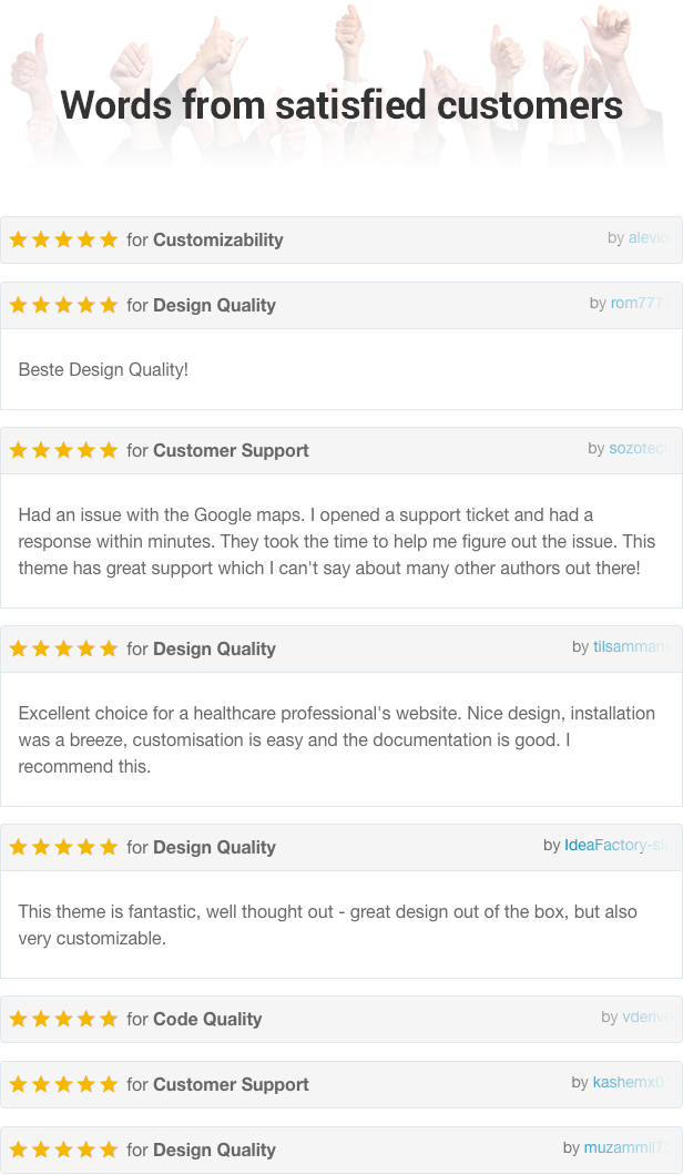 reviews - Physio - Physical Therapy & Medical Clinic WP Theme