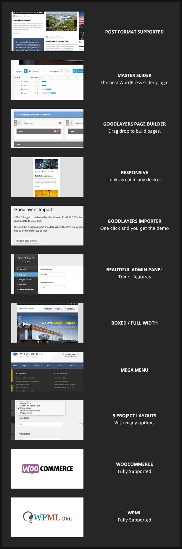screen 1 - Mega Project - Construction WordPress