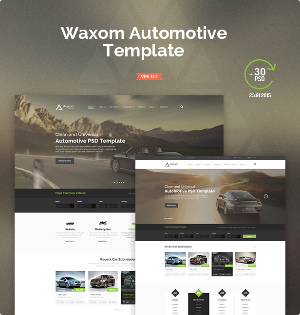 show automotive - Waxom - Clean & Universal PSD Template