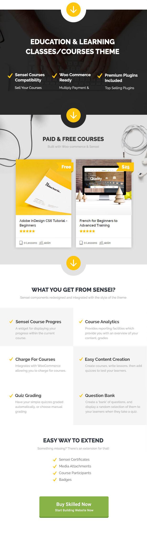 skilled 01 buy - Skilled | School Education Courses WordPress Theme