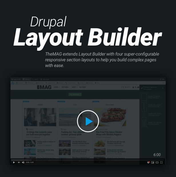 themag features  layout builder 2 - TheMAG - Highly Customizable Blog and Magazine Theme for Drupal