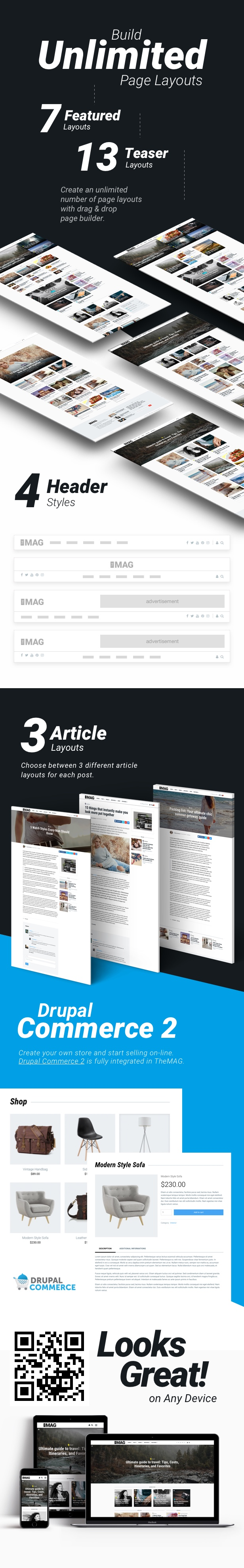 themag features  rest 1 - TheMAG - Highly Customizable Blog and Magazine Theme for Drupal