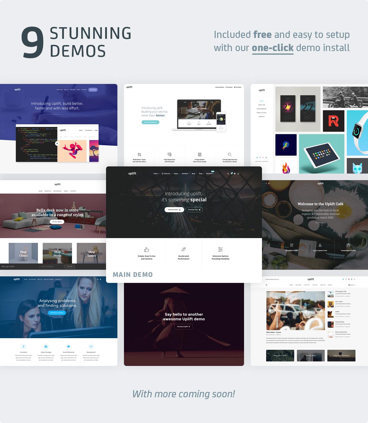 uplift demos v1.1 - Uplift - Responsive Multi-Purpose WordPress Theme