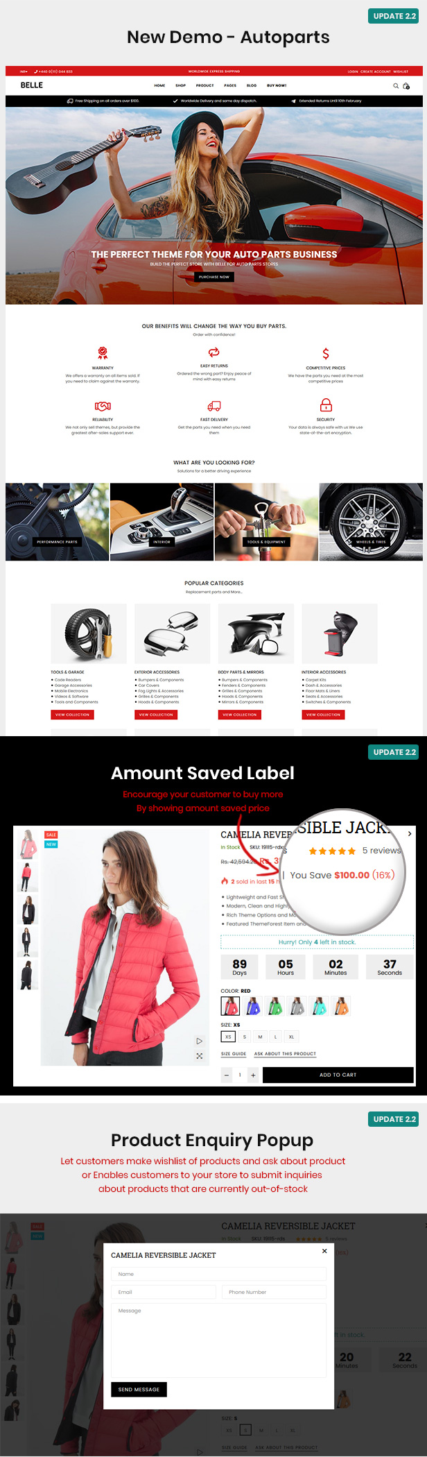v2.2 - Belle - Clothing and Fashion Shopify Theme