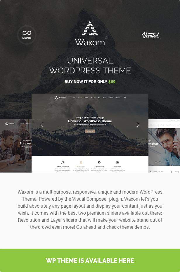 wp theme presentation - Waxom - Clean & Universal PSD Template
