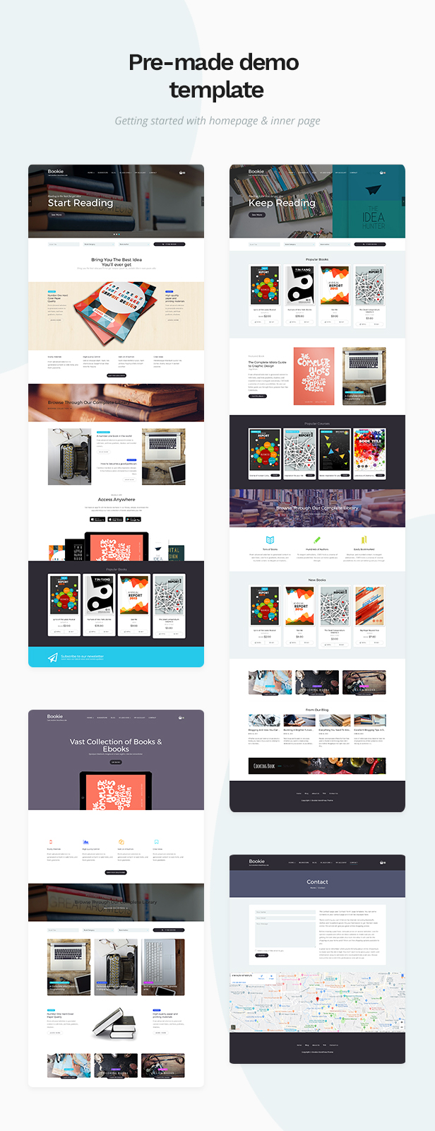 01 bookie page - Bookie - WordPress Theme for Books Store