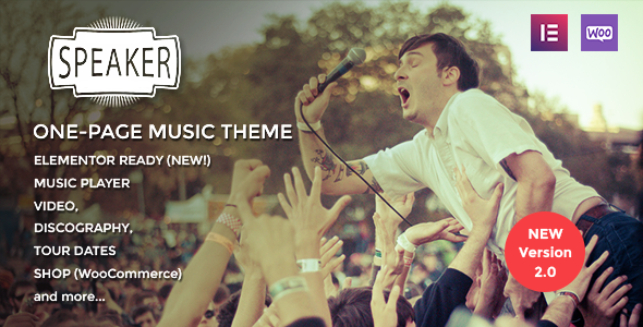 01 Preview.  large preview - Speaker - One-Page Music Wordpress Theme