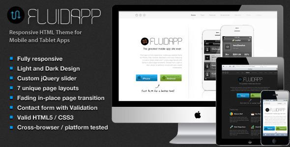 01 Splash.  large preview - FluidApp - Responsive Mobile App Website Template
