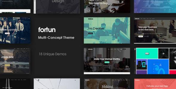 01 fortun 590x300.  large preview - Fortun | Multi-Concept WordPress Theme