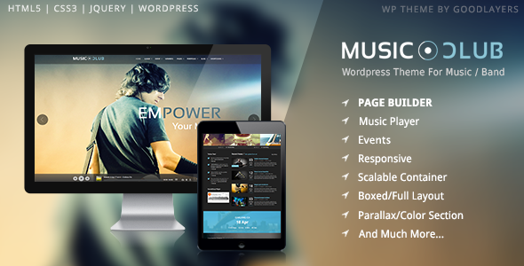 01 intro.  large preview - Music Club - Band | Party Wordpress