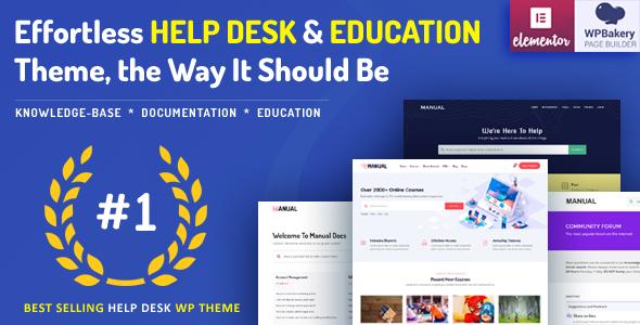 01 manual.  large preview - Manual - Documentation, Knowledge Base & Education WordPress Theme