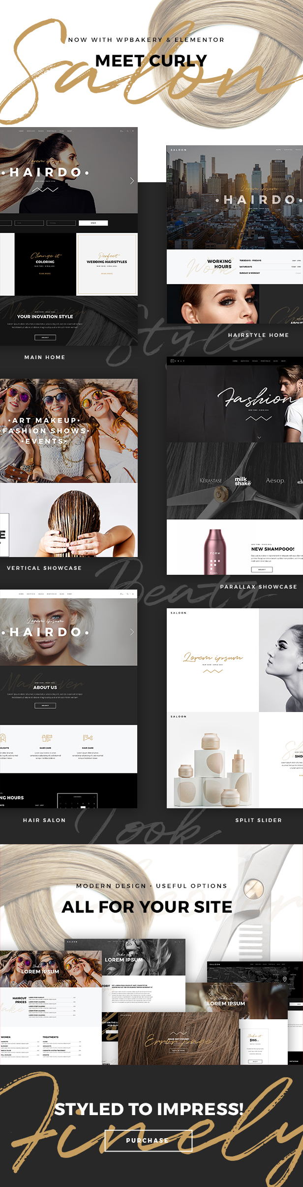 01a - Curly - A Stylish Theme for Hairdressers and Hair Salons
