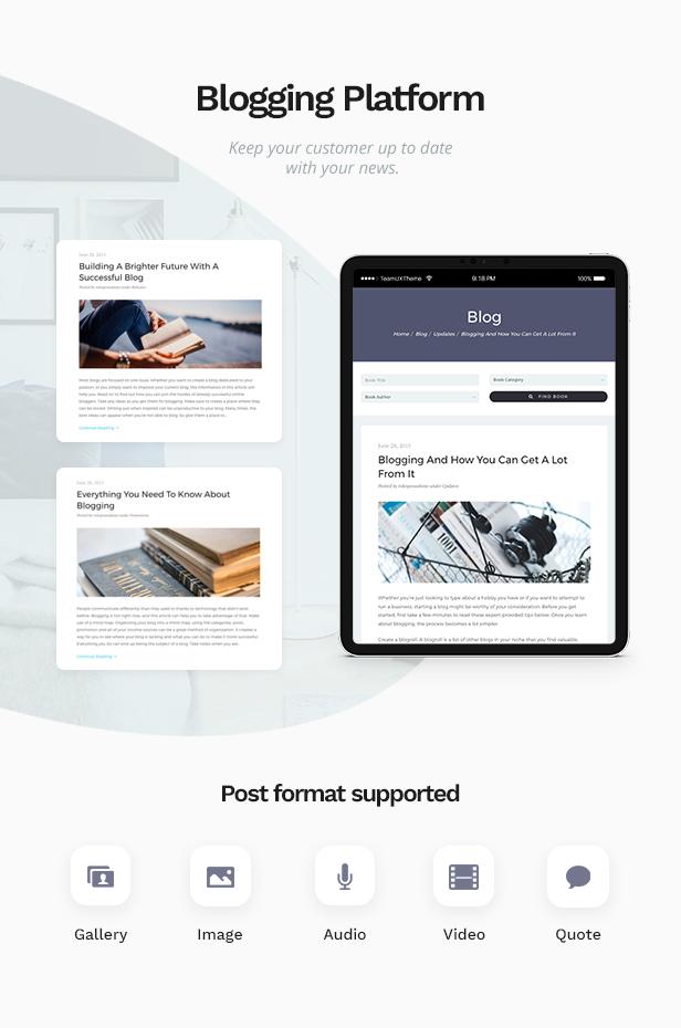 02 bookie blog - Bookie - WordPress Theme for Books Store