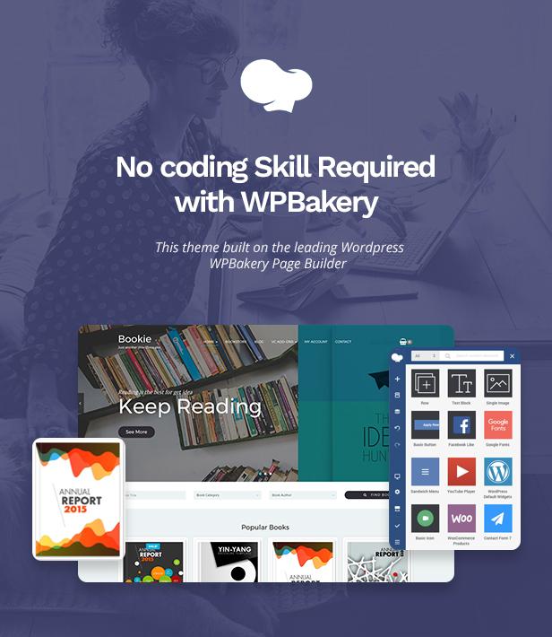 03 bookie builder 1 - Bookie - WordPress Theme for Books Store