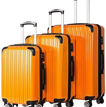 1630686215 51QBLdtjd L. AC  437x445 - Coolife Luggage Expandable 3 Piece Sets PC+ABS Spinner Suitcase 20 inch 24 inch 28 inch (orange)