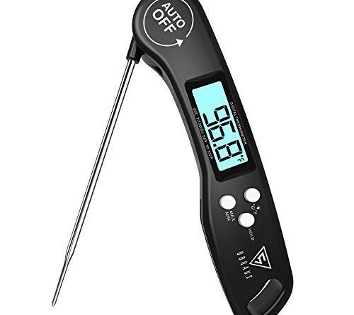 1631119717 41dVeAzb9oL 500x445 - DOQAUS Digital Meat Thermometer, Instant Read Food Thermometer for Cooking, Digital Kitchen Thermometer Probe with Backlight & Reversible Display, Cooking Thermometer for Turkey Candy Grill BBQ