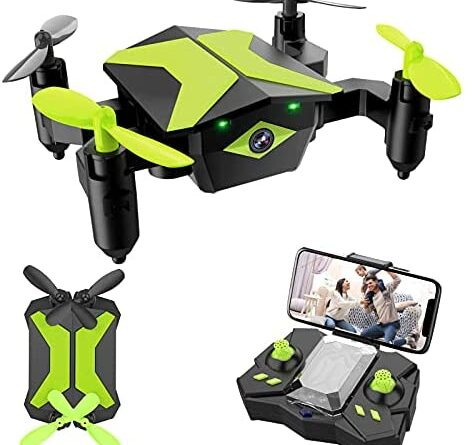 1631163074 41JczkNdVYS. AC  472x445 - Drone with Camera Drones for Kids Beginners, RC Quadcopter with App FPV Video, Voice Control, Altitude Hold, Headless Mode, Trajectory Flight, Foldable Kids Drone Boys Gifts Girls Toys-Green