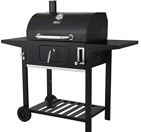 1632289742 41D2qR1yUvL. AC  476x445 - Royal Gourmet CD1824AX 24-Inch Charcoal Grill Outdoor BBQ Smoker Picnic Camping Patio Backyard Cooking, Black