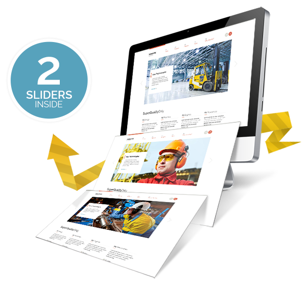 2 sliders inside - Industrial - Multi-Purpose Responsive WP Theme