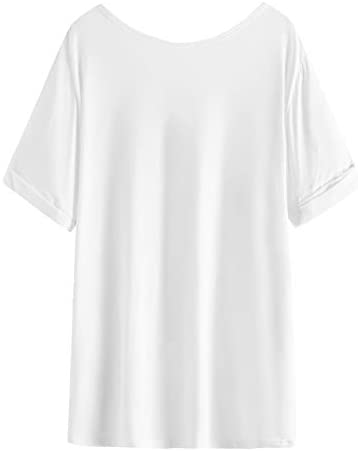 219WJAD4HgL. AC  - SheIn Women's Summer Short Sleeve Loose Casual Tee T-Shirt