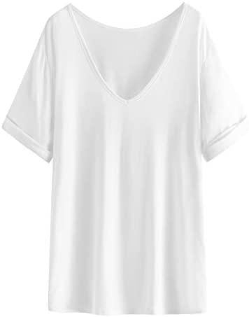 21MzDMvQDgL. AC  - SheIn Women's Summer Short Sleeve Loose Casual Tee T-Shirt