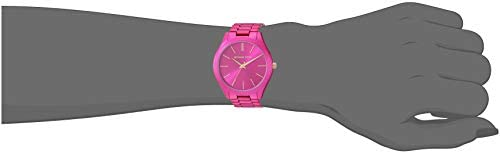 21dGorSNLgL. AC  - Michael Kors Women's Slim Runway Three-Hand Stainless Steel Quartz Watch