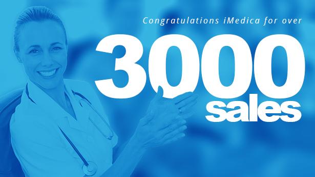 3000 sales - iMedica - Responsive Medical & Health WP Theme