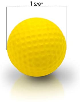 31A8Mdp+nRL. AC  - Practice Golf Balls (12 Realistic-Flight Foam Golf Balls) Get Instant Feedback of Your Strike - Perfect for Indoors, Basement & Backyard Golf Practice - Limited Flight