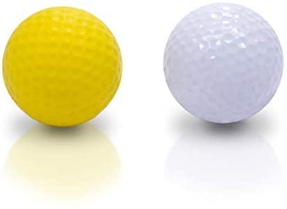 31Ck7F1omuL. AC  - Practice Golf Balls (12 Realistic-Flight Foam Golf Balls) Get Instant Feedback of Your Strike - Perfect for Indoors, Basement & Backyard Golf Practice - Limited Flight