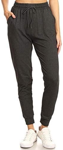 31FJgmw7WfL. AC  - Leggings Depot Women's Printed Solid Activewear Jogger Track Cuff Sweatpants