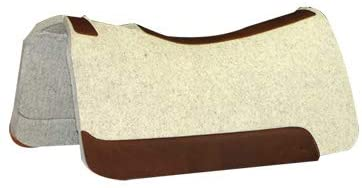 """31NV2fdjX5L. AC  - 5 Star Equine Horse Saddle Pad - 7/8"""" Thick Western Contoured Natural Pad - The Barrel Racer 30"""" X 28"""" Free Sponge Saddle Pad Cleaner Included"""