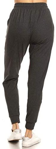 31T4AMaKgfL. AC  - Leggings Depot Women's Printed Solid Activewear Jogger Track Cuff Sweatpants