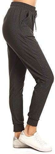 31cKgvHXI6L. AC  - Leggings Depot Women's Printed Solid Activewear Jogger Track Cuff Sweatpants